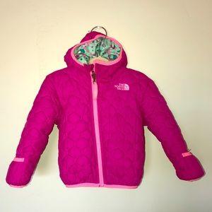 North Face Pink Winter Jacket & Pants 18-24